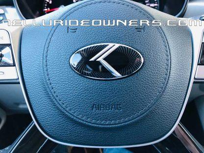 kia telluride vintage k steering wheel emblem
