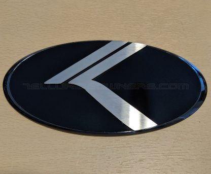 black chrome vintage k badge emblem for kia telluride