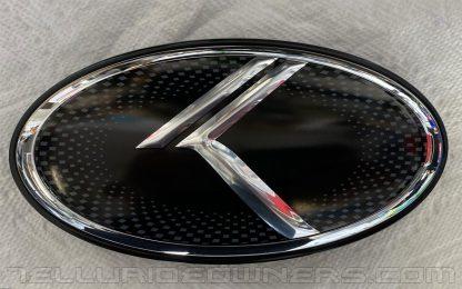 vintage k metal skin over kia badge