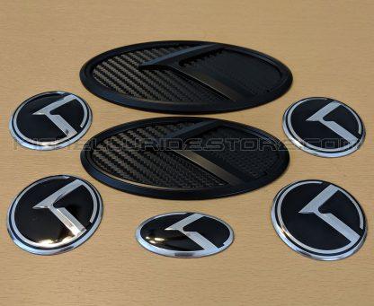 kia telluride black carbon badges and emblems