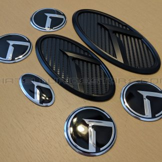 kia telluride black carbon badges and emblems