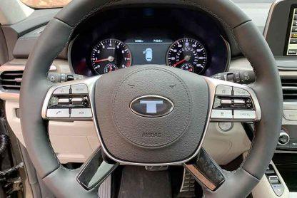 big t steering wheel emblem overlay for kia telluride