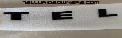 matte black lettering for kia telluride